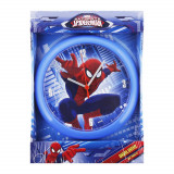 Horloge murale Spiderman montre bleu clair