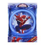 Horloge murale Spiderman montre bleu clair
