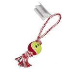 Jouet balle avec corde, cordon, jeu pour chien rouge lancer