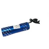 Lampe de poche a led en métal bleu
