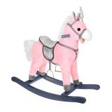 Cheval a bascule licorne Sonore jouet enfant bebe rose