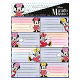 Lot de 16 étiquette Minnie Mouse Disney cahier enfant ecole voiture