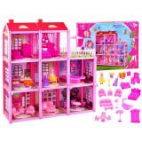 Maison de poupée 8 chambres terrasse mobilier 3 etages