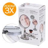 Miroir rotatif grossissant x 3 à poser maquillage