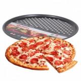 Moule a pizza 33 cm antiadhésif plat four rond perforé trou