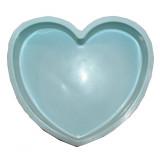 Moule a tarte coeur en silicone gâteau patisserie bleu