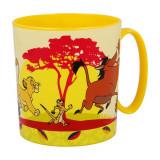 Tasse La garde du roi Lion Jaune Micro onde mug plastique reutilisable