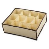 Boite de rangement 12 case compartiment armoire tiroir tissus B