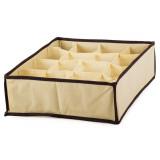 Boite de rangement 16 case compartiment armoire tiroir tissus B