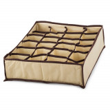 Boite de rangement 24 case compartiment armoire tiroir tissus B