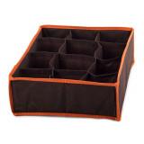 Boite de rangement 12 case compartiment armoire tiroir tissus