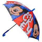 Parapluie Mickey Mouse enfant bleu rouge tete