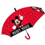 Parapluie Mickey enfant semi-automatique Rouge