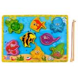 Jeu peche aimant et bois 8 poisson canne jouet canard