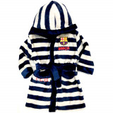 Peignoir polaire FC Barcelone 5 ans robe de chambre Barca Blanc