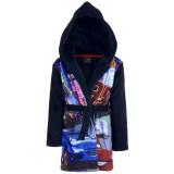 Peignoir polaire Cars 3 ans robe de chambre capuche bleu