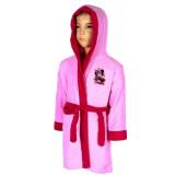 Peignoir polaire Minnie 10 ans robe de chambre capuche CL