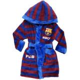 Peignoir polaire FC Barcelone 7 ans robe de chambre Barca Rouge