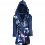 Peignoir polaire Star Wars 4 ans robe de chambre capuche bleu