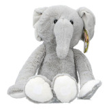 Elephant en peluche 55 cm gris XL Geant Velcro Scratch