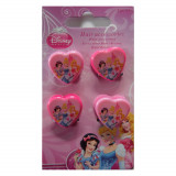 Lot de 4 pince crabe Princesse Disney fille rose