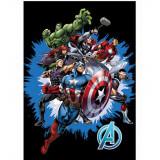 Plaid Polaire Les Avengers Couverture Enfant Noir