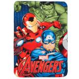 Plaid Polaire Les Avengers Couverture Enfant Hulk Iron Man