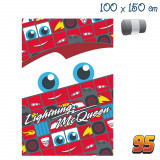 Plaid polaire disney Cars couverture enfant rouge 150 x 100