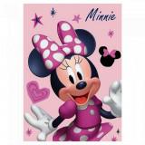 Plaid polaire Minnie Mouse Couverture rose etoile