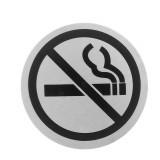 Plaque de toilette Ne Pas Fumer signalétique acier rond interdit