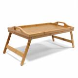 Plateau de lit en bois bambou