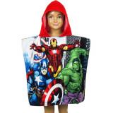 Poncho de bain Disney Avengers, cape pour enfant rouge