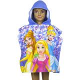 Poncho de bain Disney Princesse, cape pour enfant violet