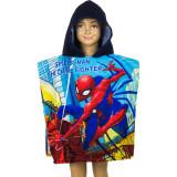 Poncho de bain Disney Spiderman, cape pour enfant bleu