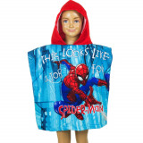 Poncho de bain Disney Spiderman, cape pour enfant rouge