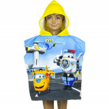 Poncho de bain Disney Super Wings, cape pour enfant jaune