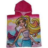 Poncho de bain Barbie capuche plage piscine