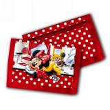 Porte monnaie Minnie Mouse porte feuille Disney enfant rouge