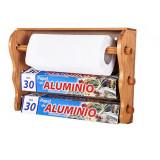 Distributeur bois rouleau papier sopalin aluminium cuisine derouleur F