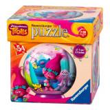 Puzzle 3D Les Trolls 54 pieces Disney enfant boule