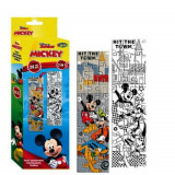 Puzzle Mickey Mouse a colorier 24 pieces 48 x 13 cm decorer enfant