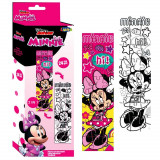 Puzzle Minnie Mouse a colorier 24 pieces 48 x 13 cm decorer enfant