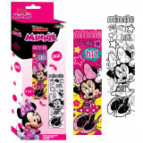 Puzzle a colorier 24 pieces Minnie Mouse 48 x 13 cm