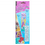 Puzzle Princesse a colorier 24 pieces 48 x 13 cm decorer enfant