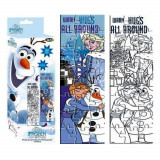 Puzzle La Reine des Neiges a colorier 24 pieces 48 x 13 cm decorer enfant
