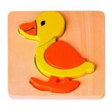 Puzzle en bois JOUECO bois ecologique Canard enfant