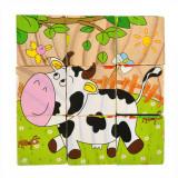Puzzle 9 cube les animaux de la ferme enfant bébé