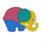 Puzzle en bois Elephant bebe enfant 4 piece