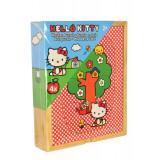 Coffret de 4 puzzle de 4 pieces Hello Kitty en bois enfant