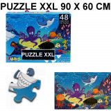 Puzzle geant 48 pieces La Mer poisson pieuvre tortue piece XL 60 x 90 cm